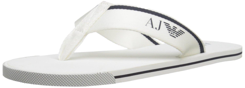 5f58d919c0c071 Armani Jeans 6544 Elite Flip Flops - White — Armani Shoes