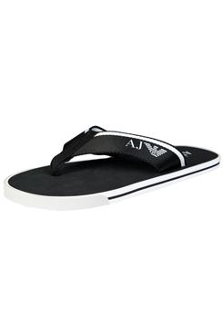 86469a0fd378d8 Armani Jeans 6544 Elite Flip Flops - Black — Armani Shoes
