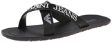 Armani Jeans Men s Crisscross Sandal - Black