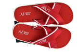 Armani Jeans 6545 Cross Flip Flops - Red