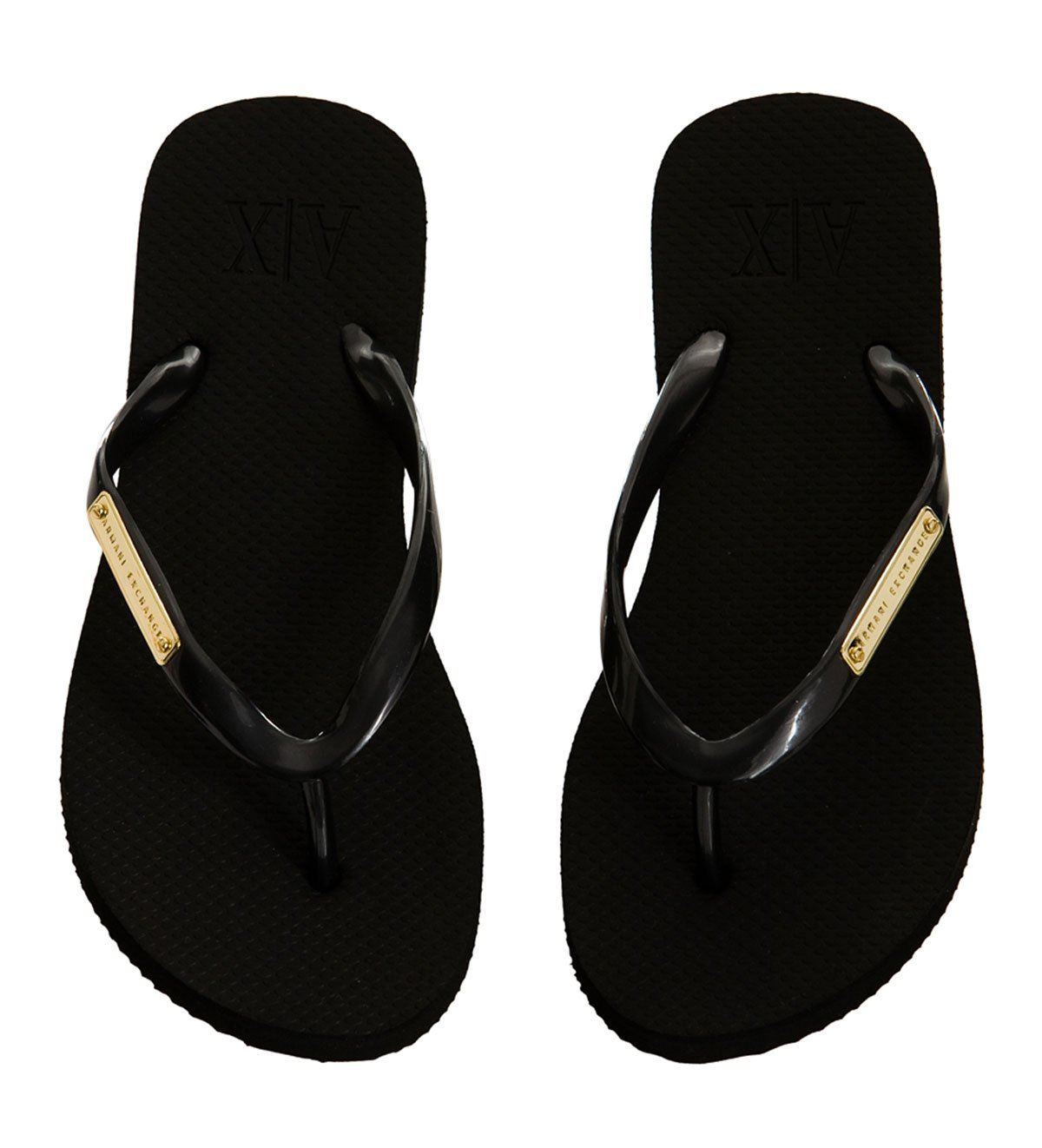 06d2c7e80 Armani Exchange Flip Flops Women. Armani Exchange Logo Plate ...