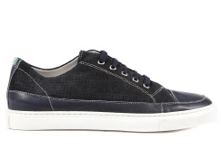 Armani Jeans men's shoes suede trainers sneakers blu
