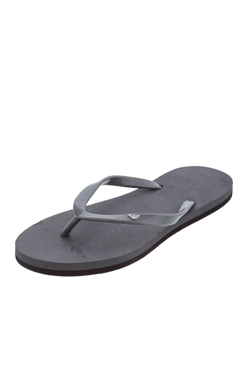 EMPORIO ARMANI Women Grey Flat Thong Rubber Sandals Flip Flops Summer Flat Shoes - Black