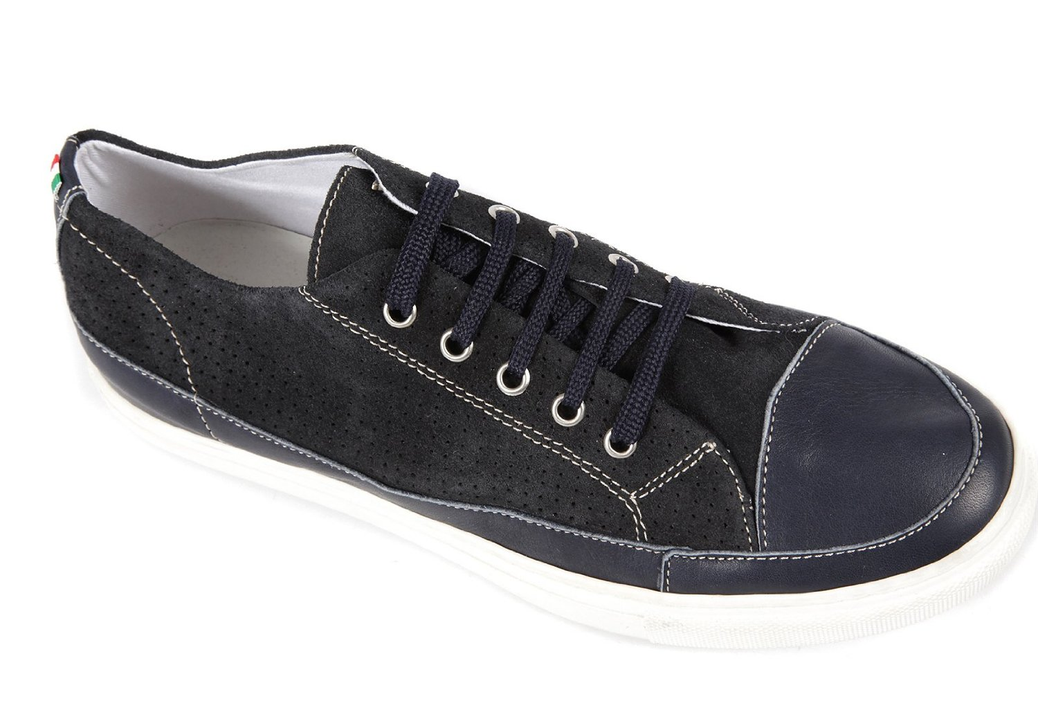 Armani Jeans men's shoes suede trainers sneakers blu Image 3