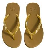 Armani Exchange Logo Plate Flip Flop - Gold